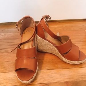 Time and tru cognac wedges